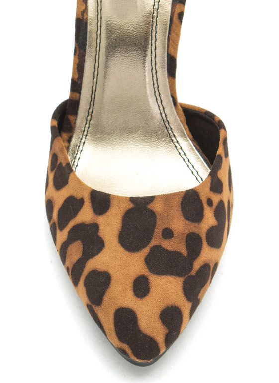 Single Buckle Pointy Heels LEOPARD