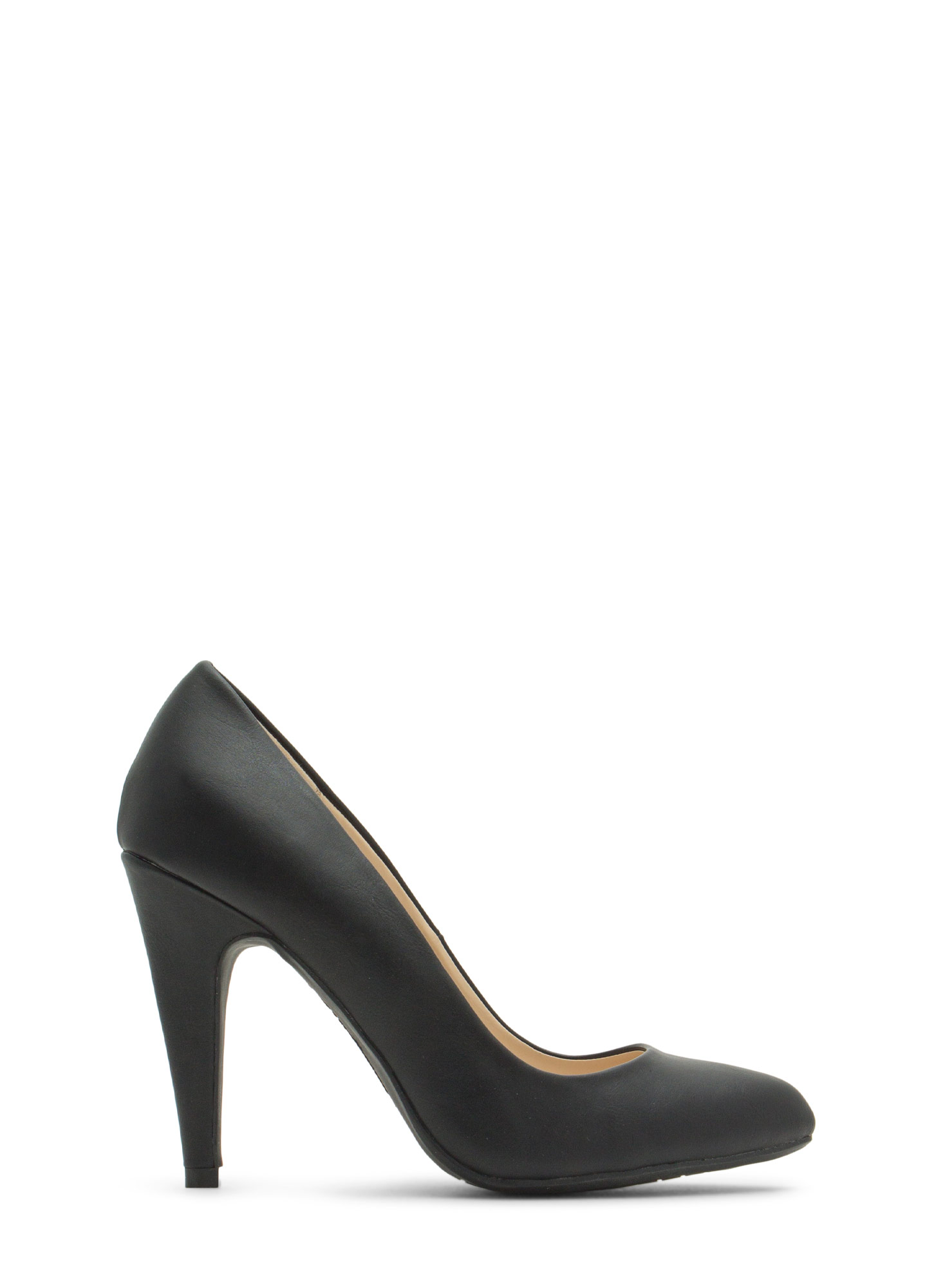 Point Well Taken Almond Toe Heels BLACK