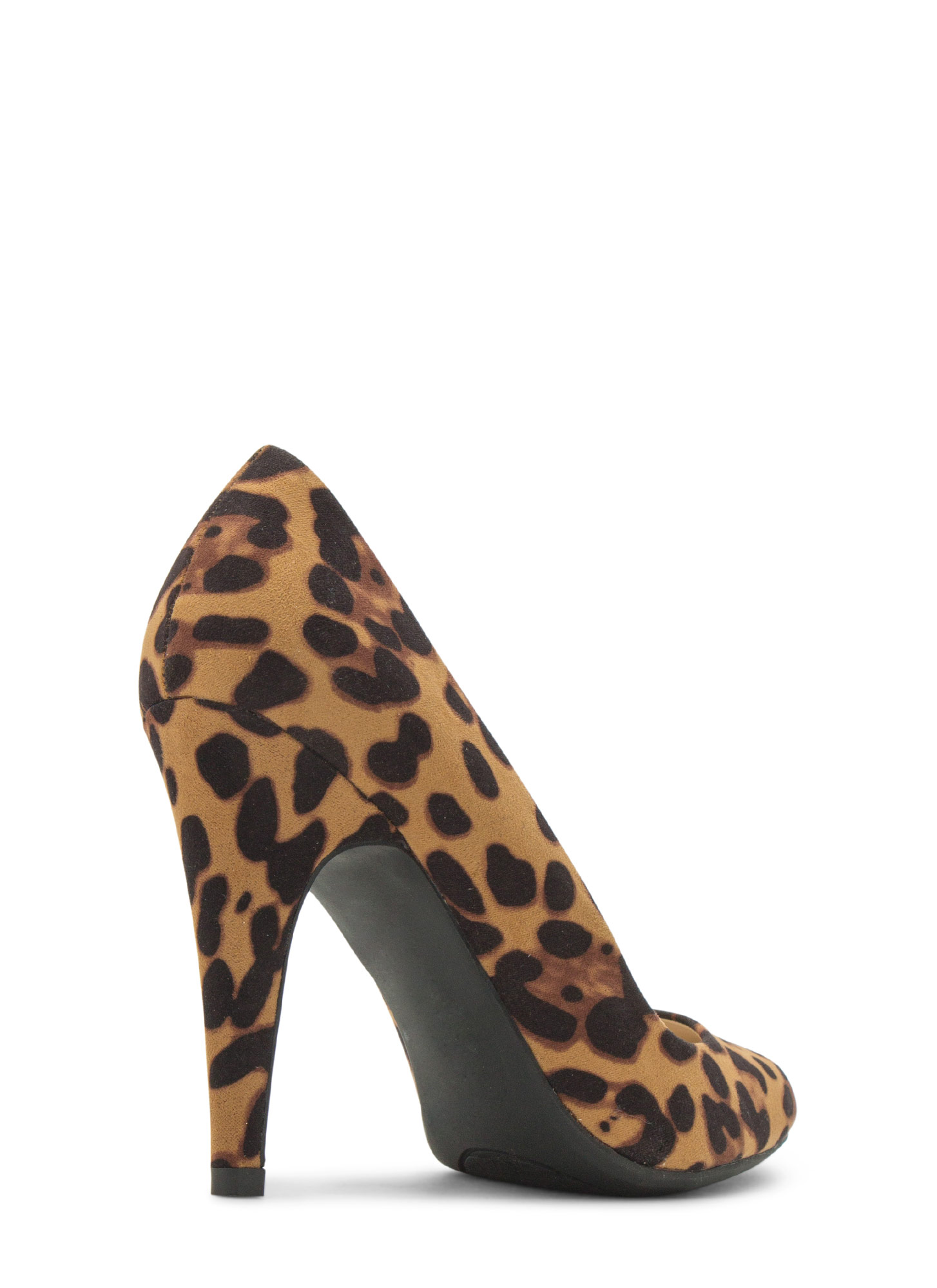 Point Well Taken Almond Toe Heels LEOPARD