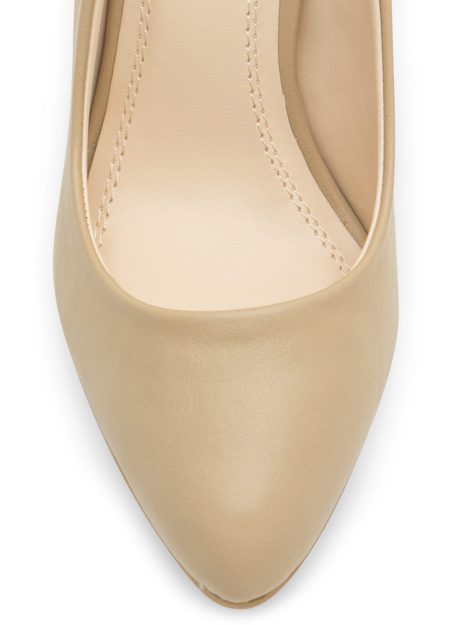 Point Well Taken Almond Toe Heels NATURAL