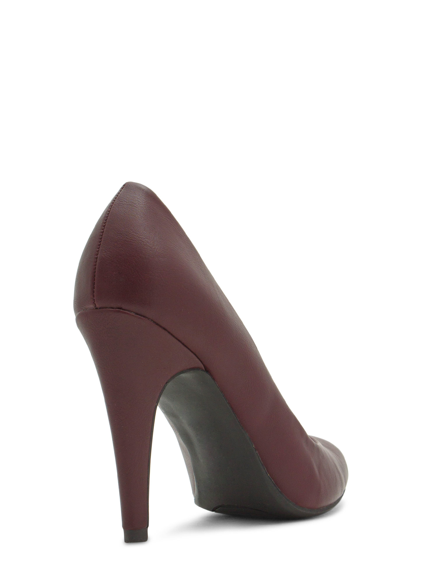 Point Well Taken Almond Toe Heels OXBLOOD