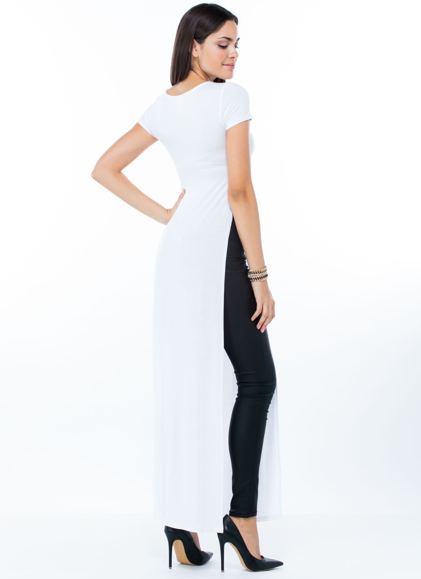 Trends In High Places Side Slit Maxi WHITE