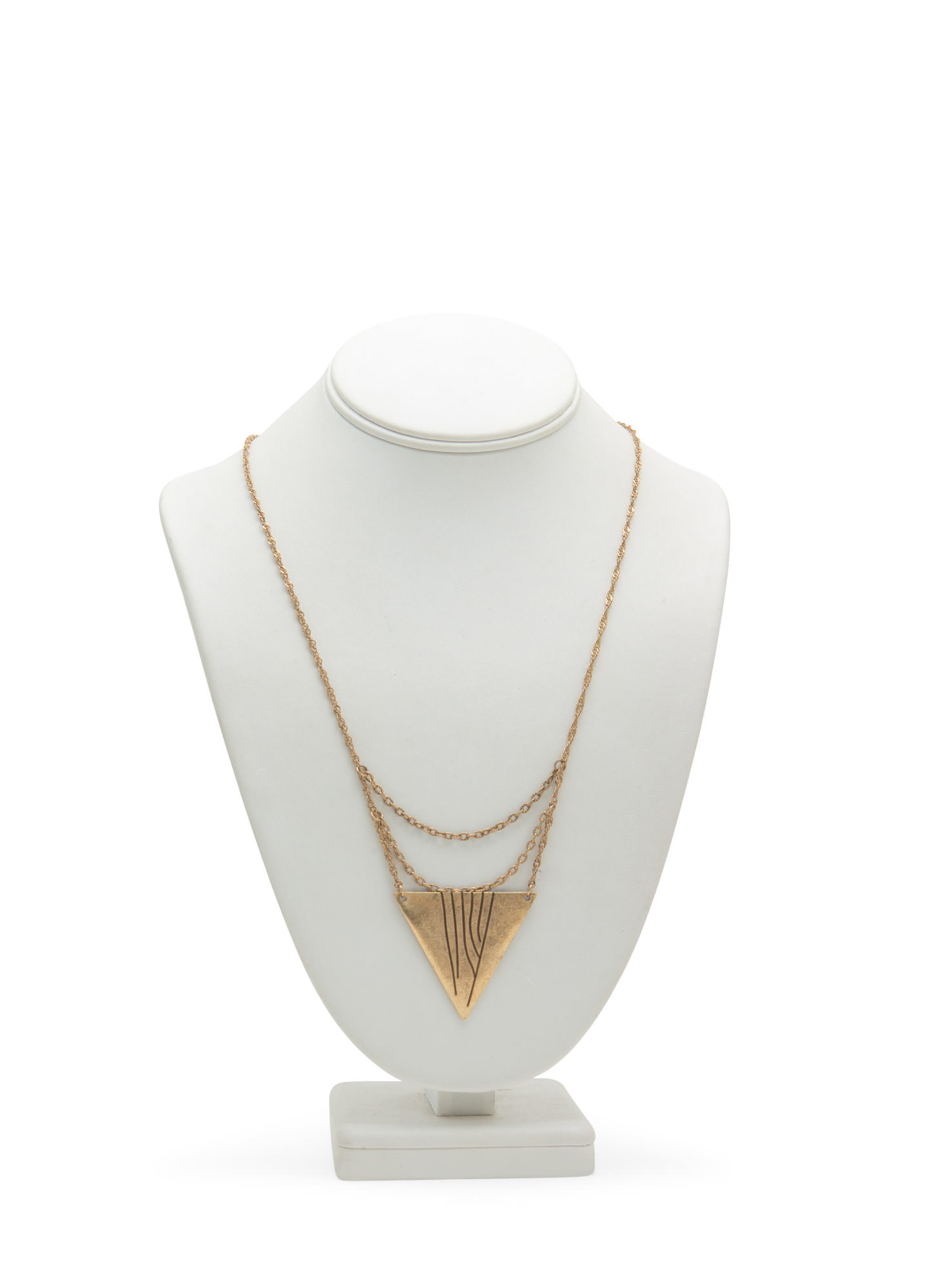 Tribal Triangle Necklace DKGOLD