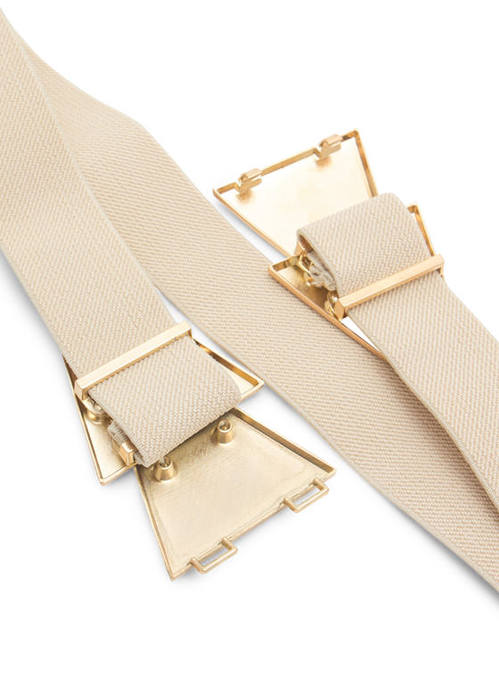 Double Layered Triangles Belt BEIGEGOLD