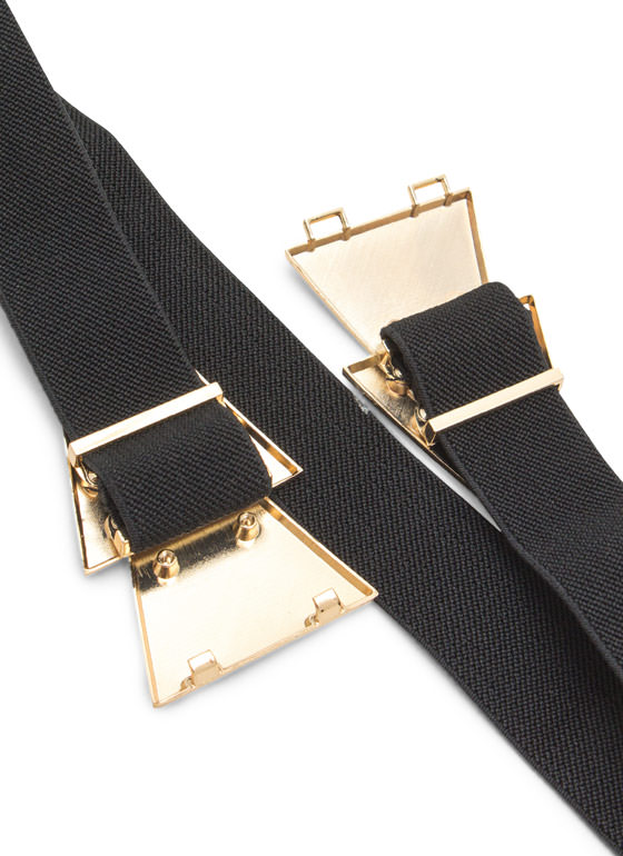 Double Layered Triangles Belt BLACKGOLD