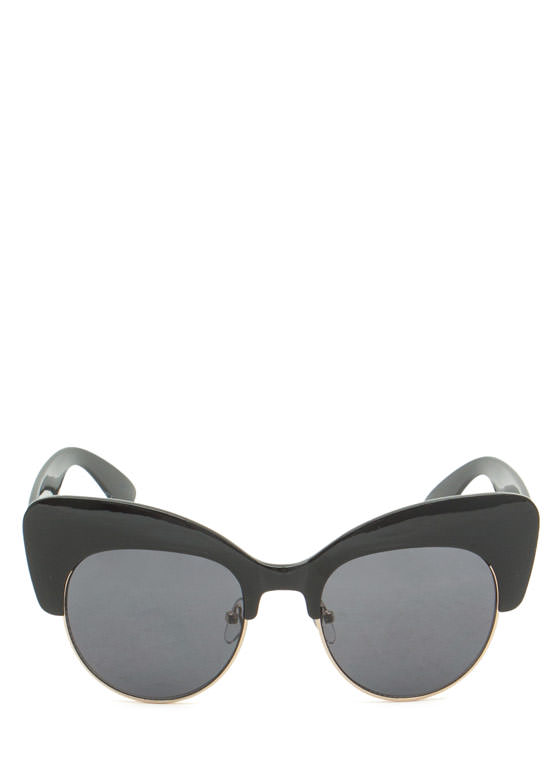 Cat Got Your Tongue Sunglasses BLACKGOLD