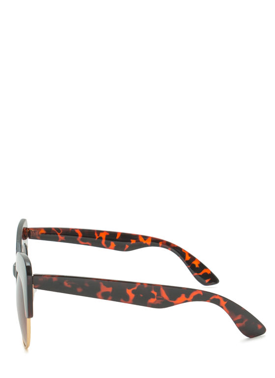 Cat Got Your Tongue Sunglasses DKTORTOISE
