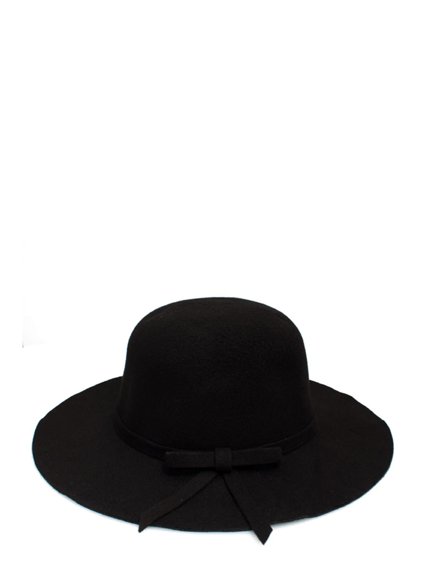 Structured 'N Felted Bow Hat BLACK