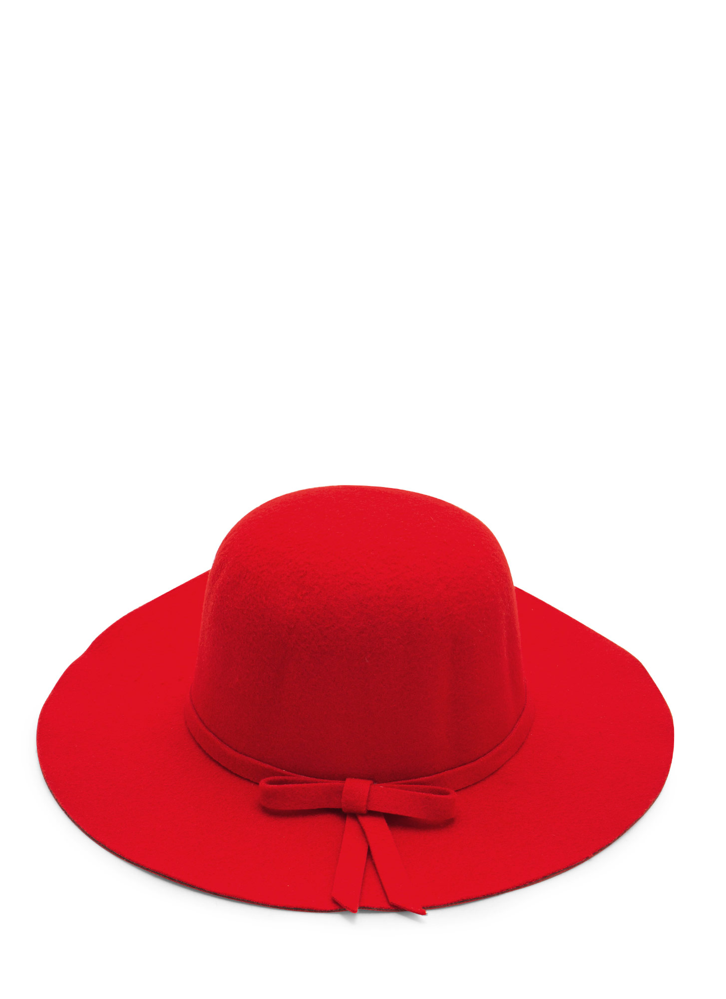 Felted Bow Hat RED