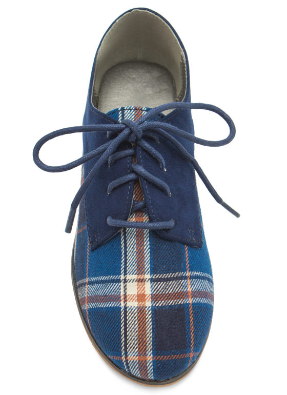 Reality Check Contrast Lace-Up Oxfords NAVY