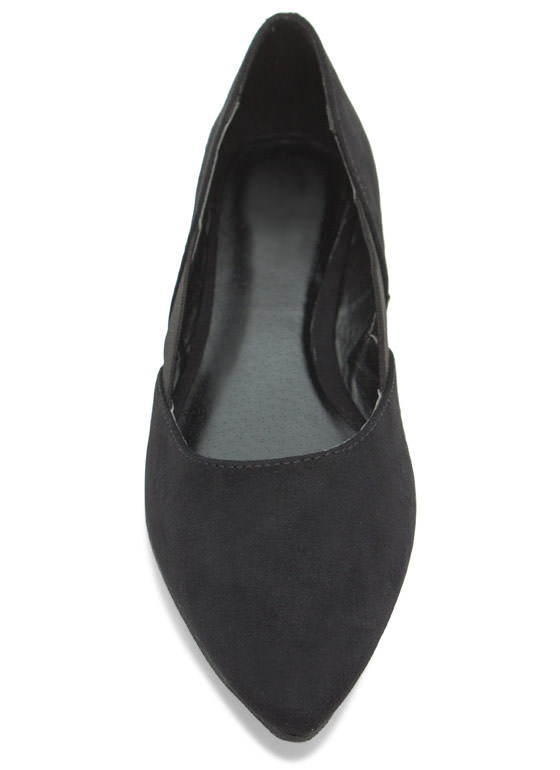 Stretch The Rules Pointy Flats BLACK
