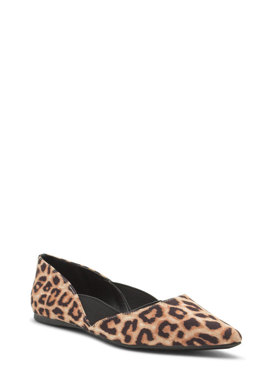 Stretch The Rules Pointy Flats LEOPARD