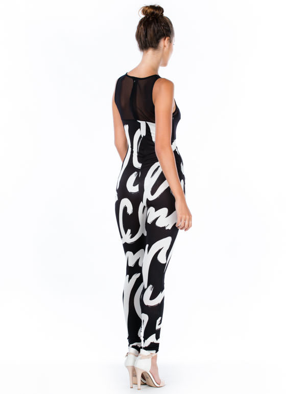 Feel Your Paint Brushstroke Jumpsuit BLACK