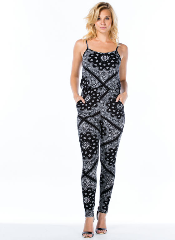 Bandana Inspiration Jumpsuit BLACK