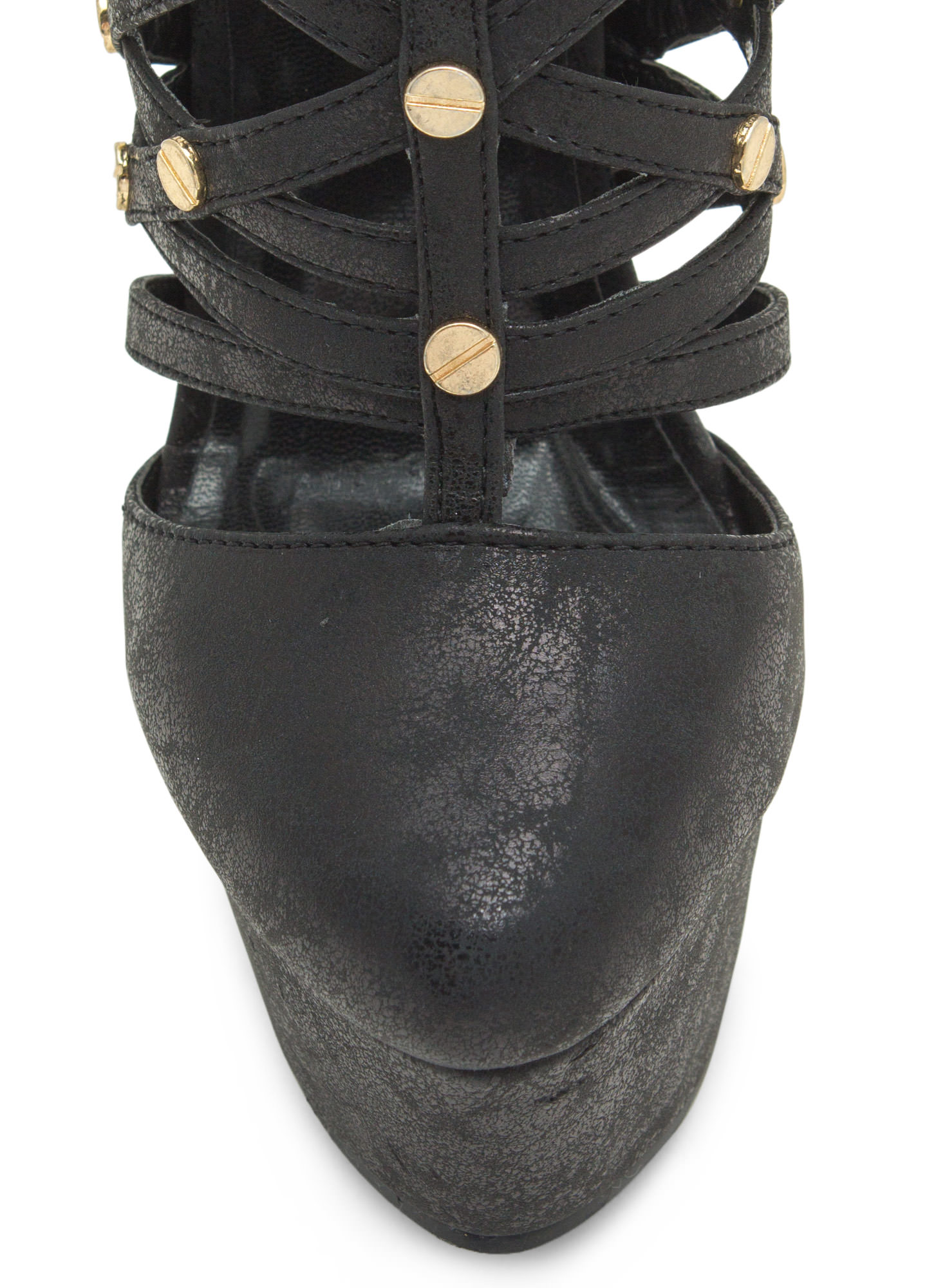 Screw It Platform Heels BLACK
