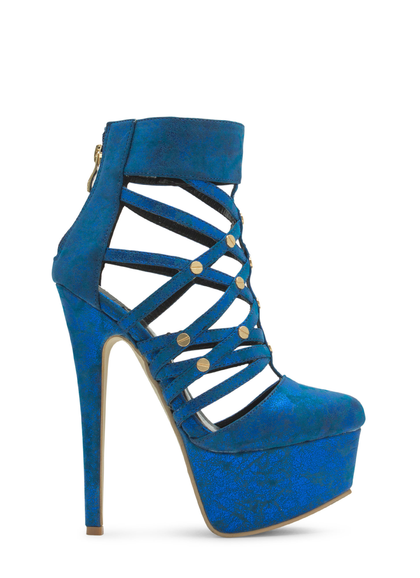 Screw It Platform Heels ROYAL