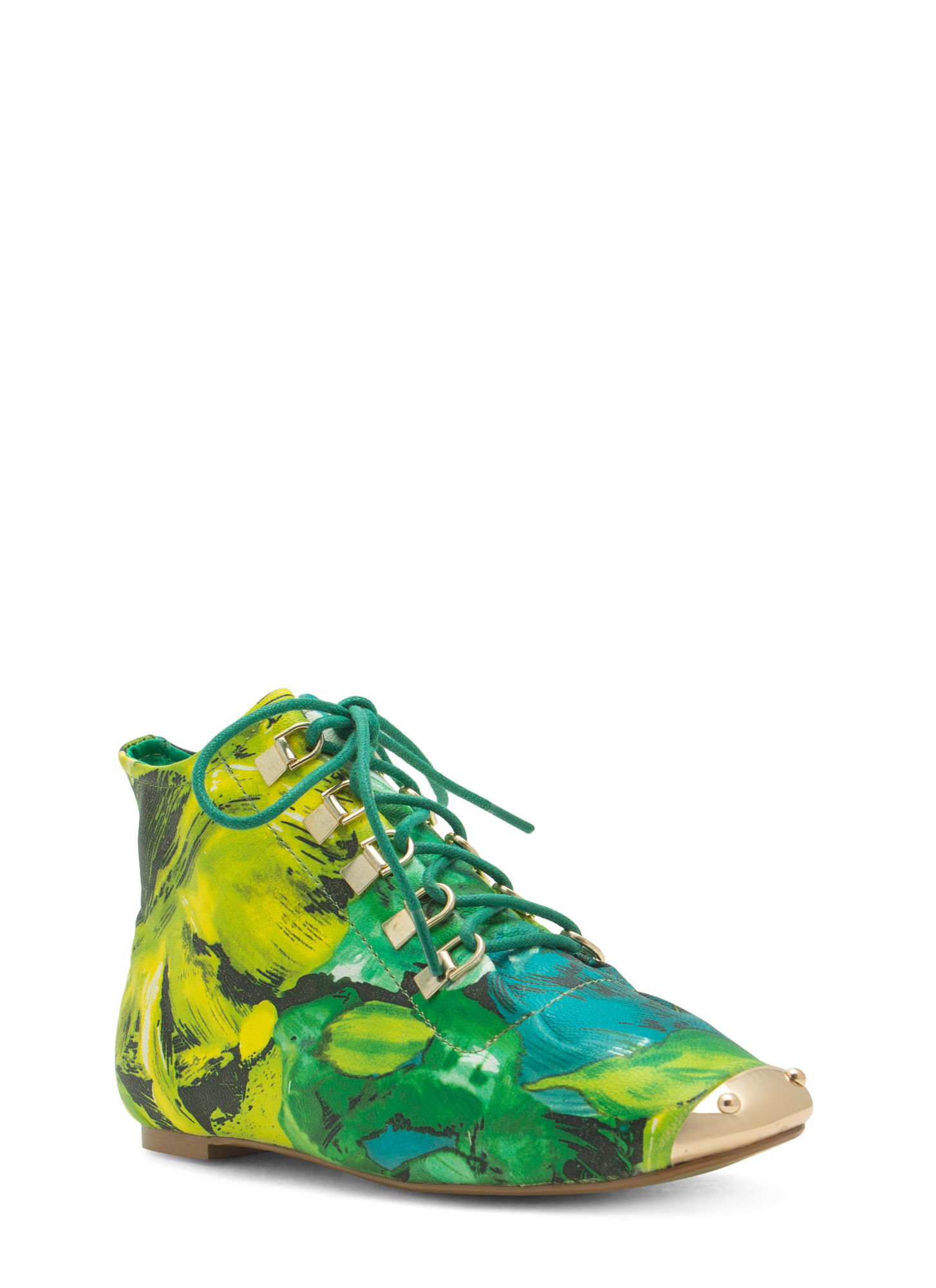 State Of The Art Moccasin Booties GREENMULTI