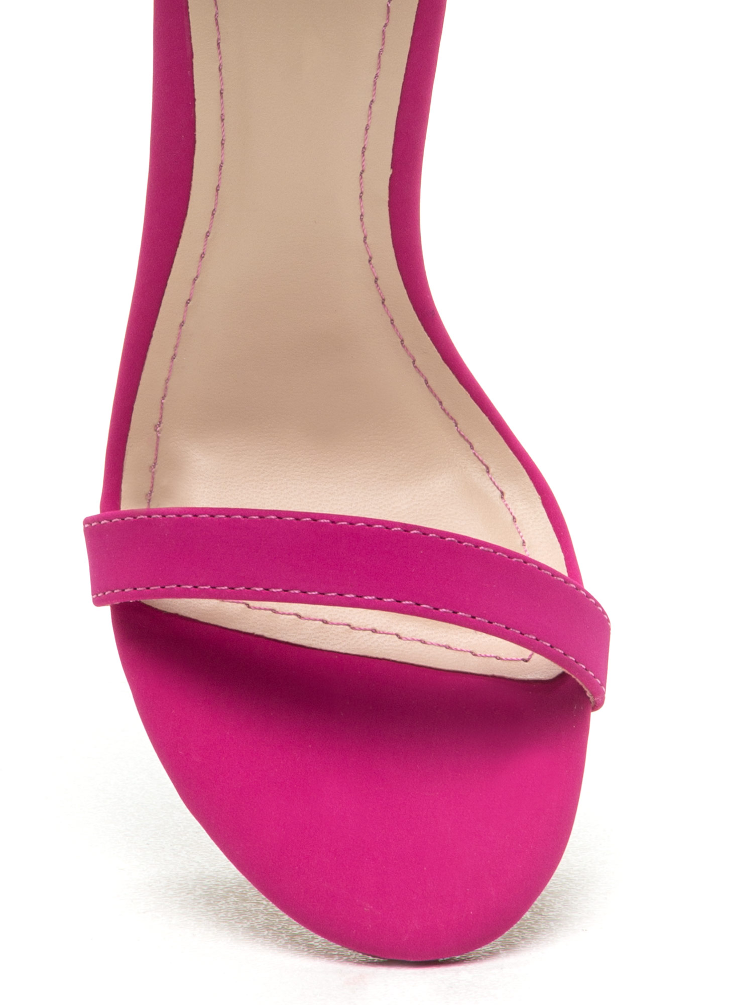 Singled Out Faux Nubuck Heels MAGENTA
