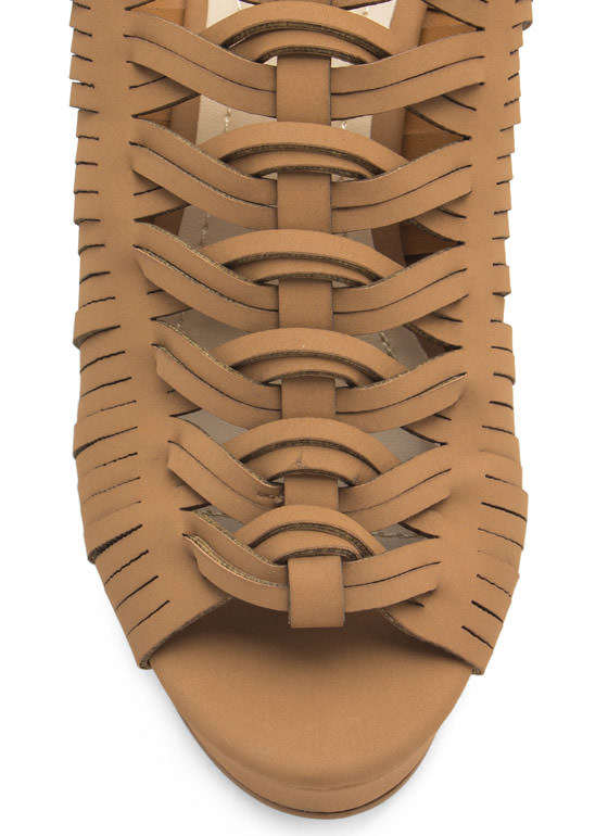 Diamond Cut-Out Slide Wedges NATURAL