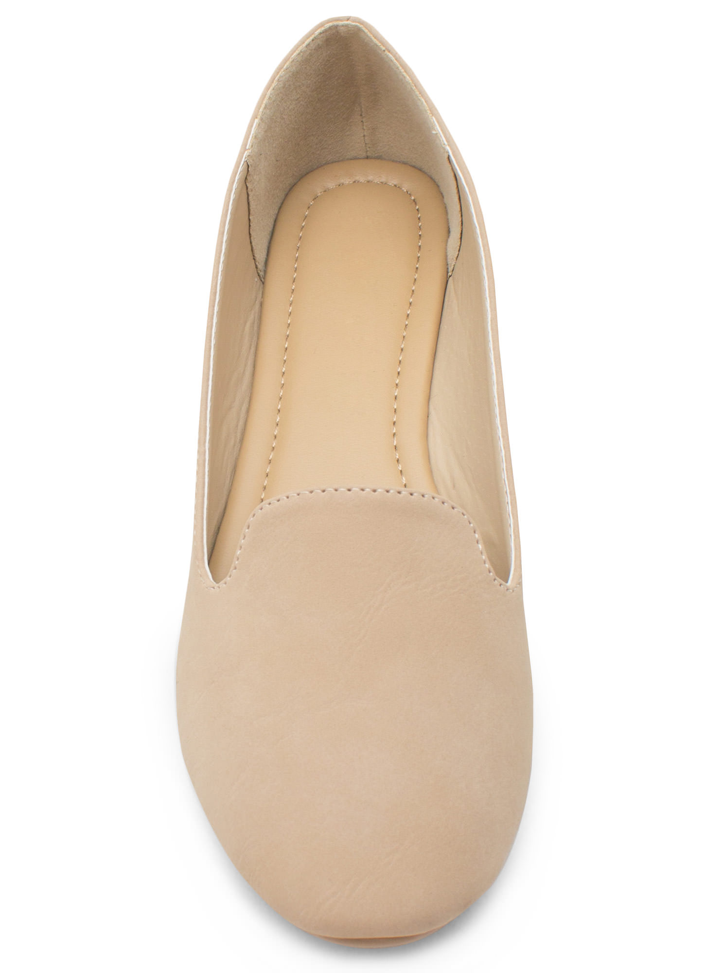 Go Plain Faux Nubuck Smoking Flat NATURAL
