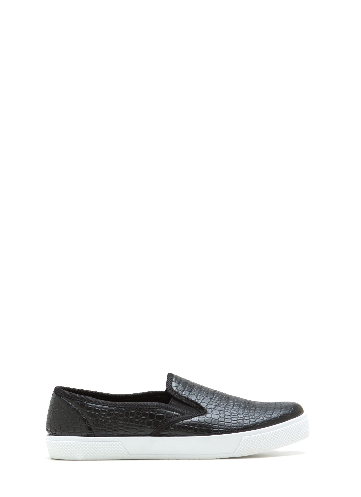 Come Slither Scaled Slip-On Sneakers BLACK