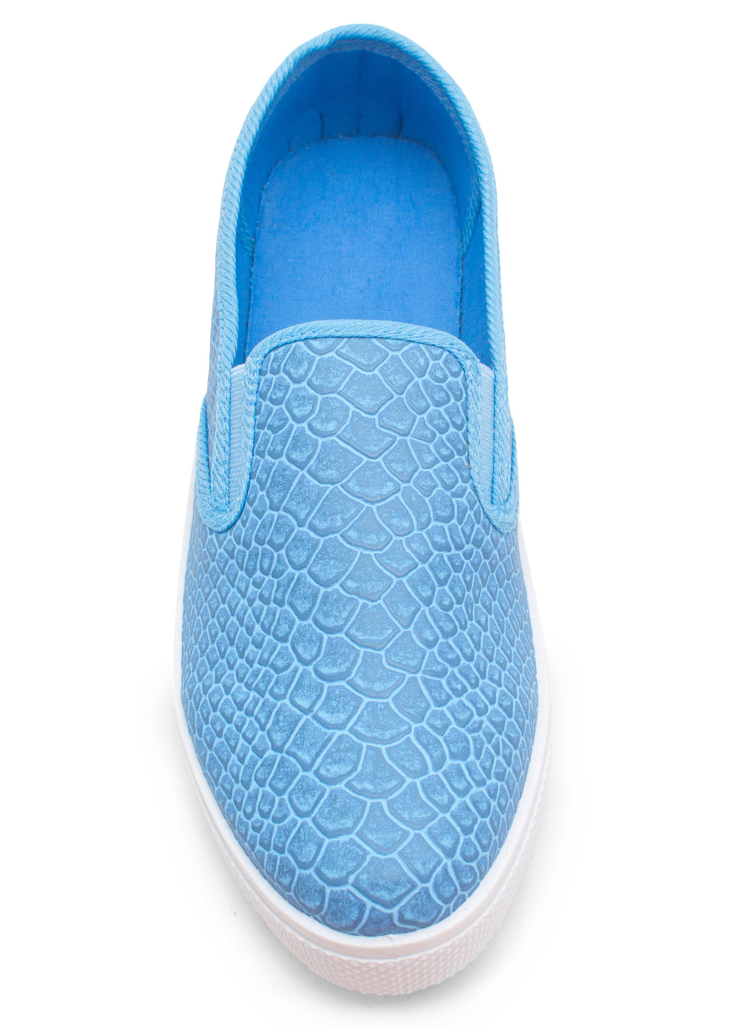 Come Slither Scaled Slip-On Sneakers BLUE