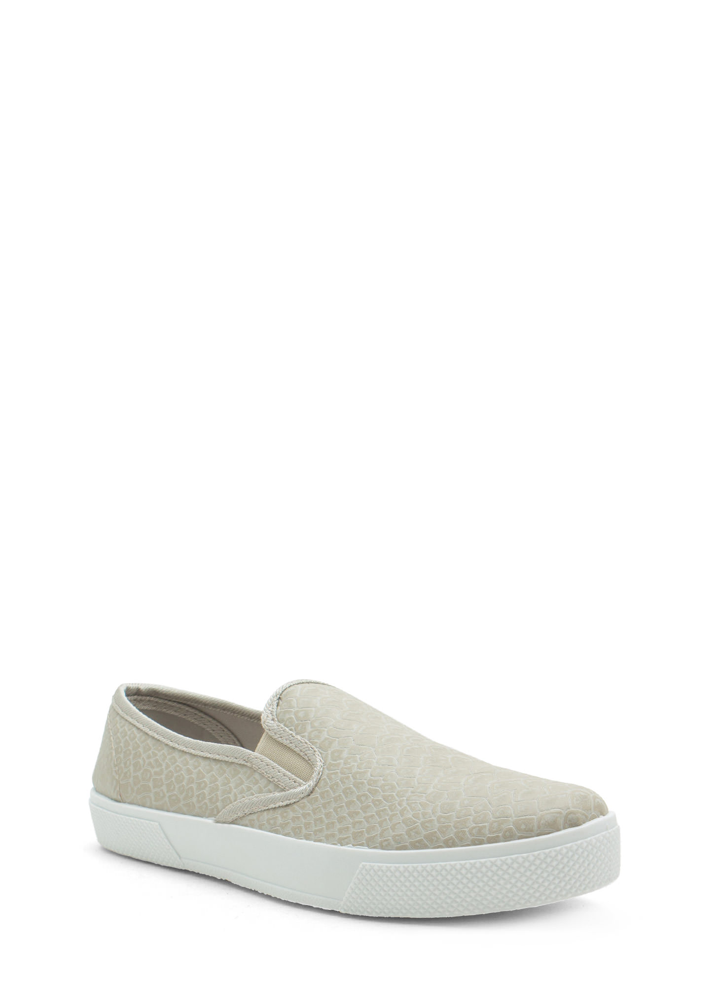 Come Slither Scaled Slip-On Sneakers GREY
