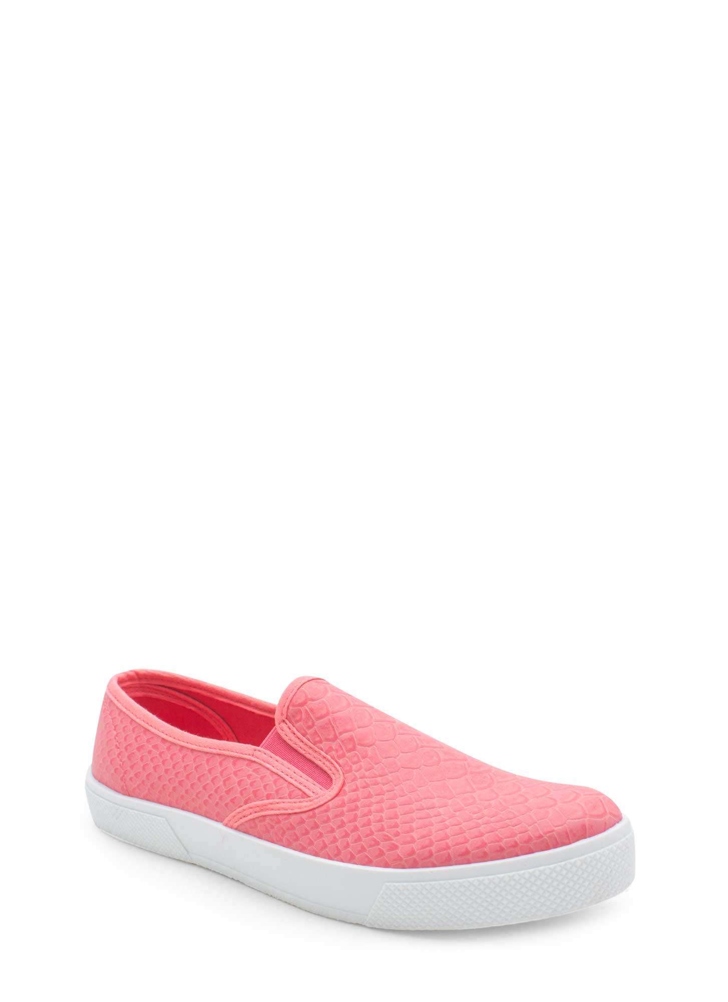 Come Slither Scaled Slip-On Sneakers PINK