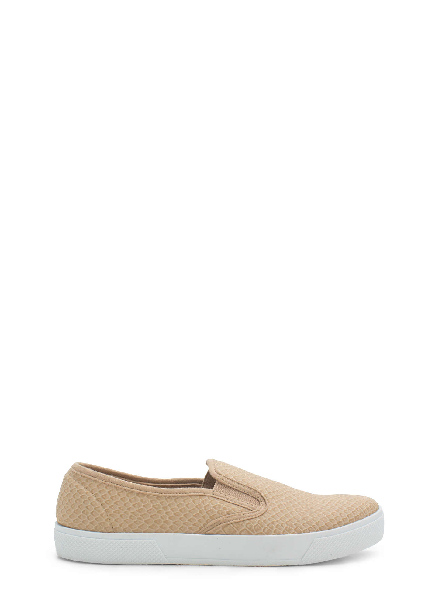 Come Slither Scaled Slip-On Sneakers TAUPE