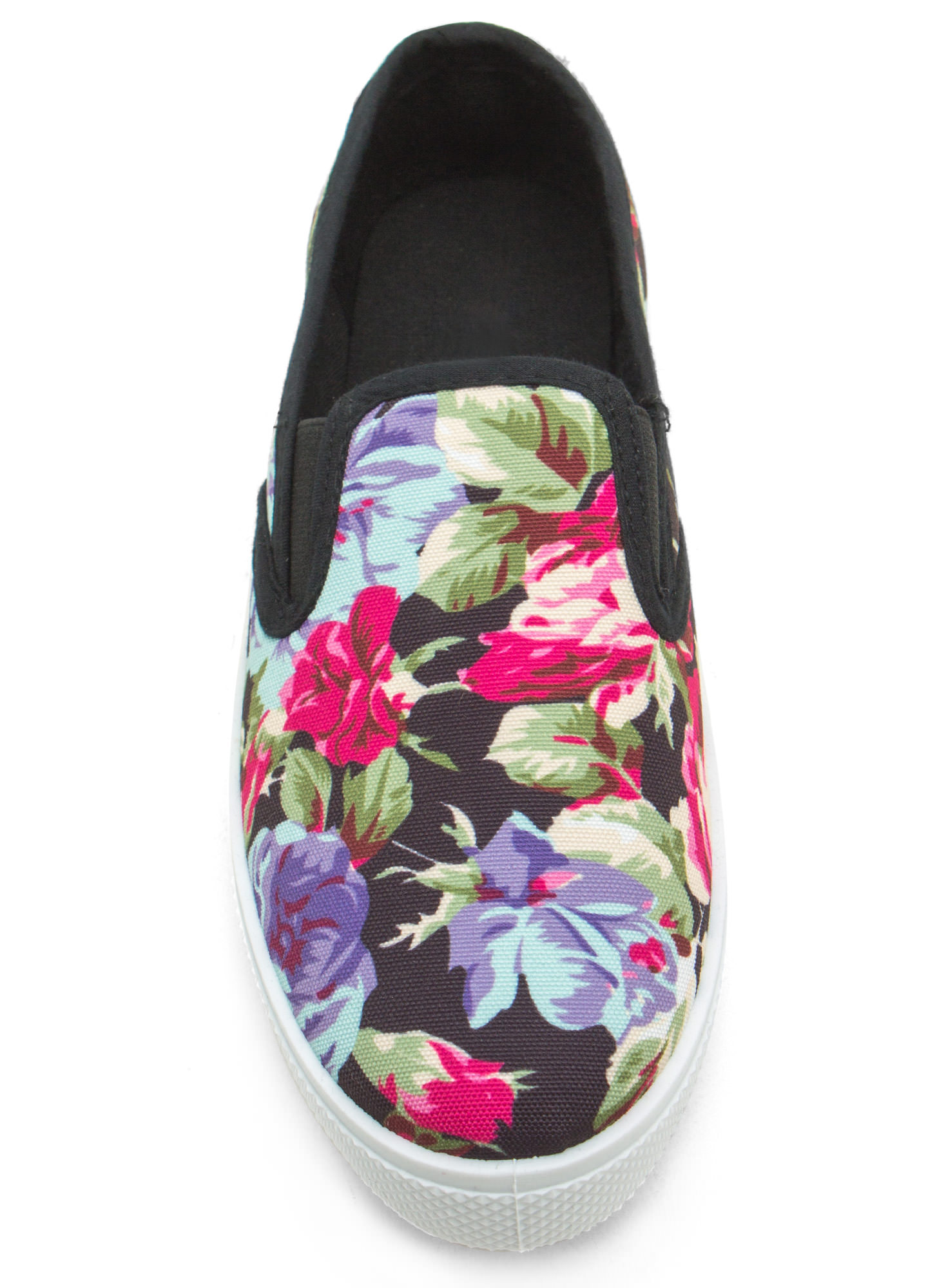 More Flower To You Slip-On Sneakers BLACK