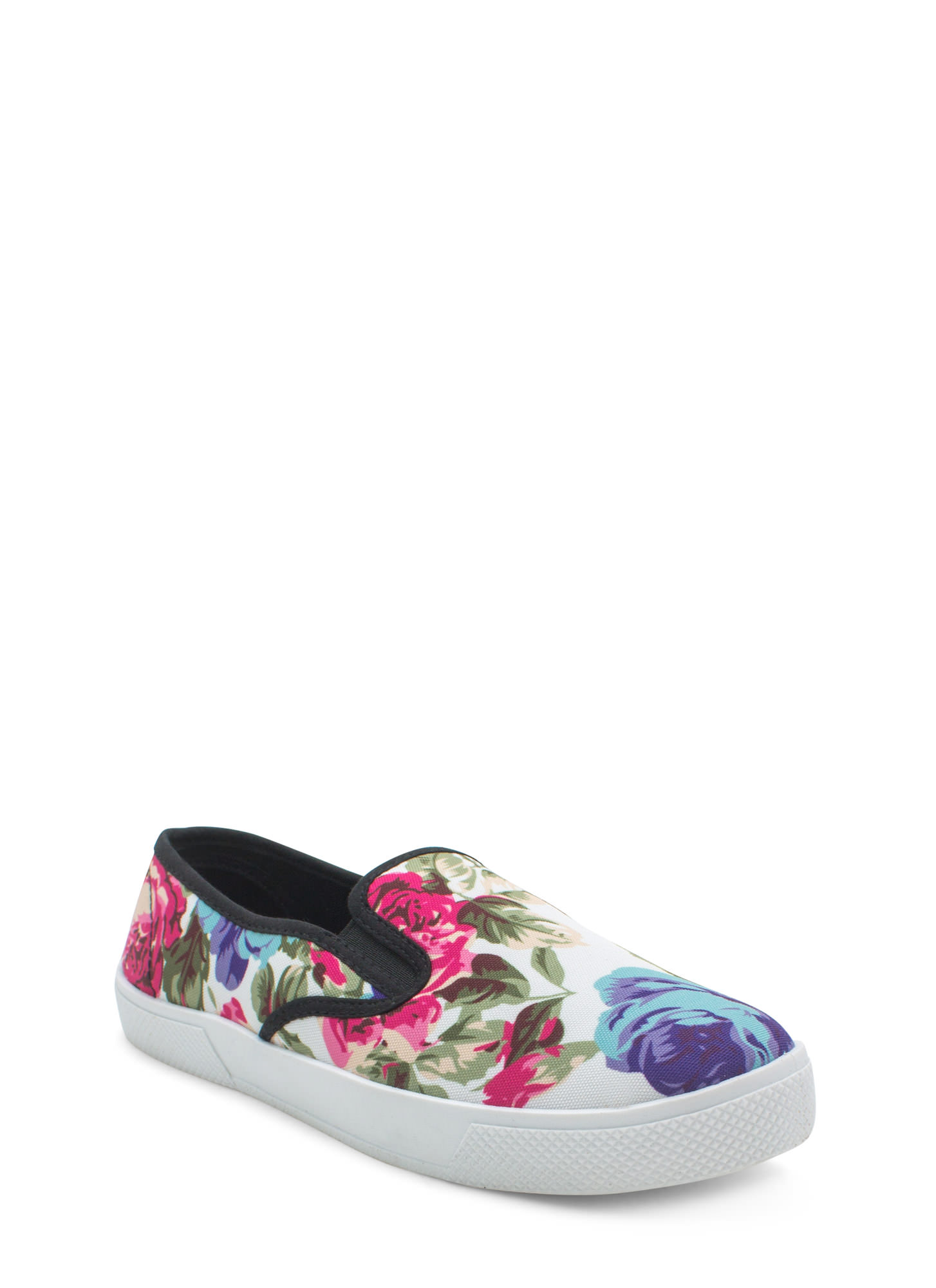 More Flower To You Slip-On Sneakers WHITE