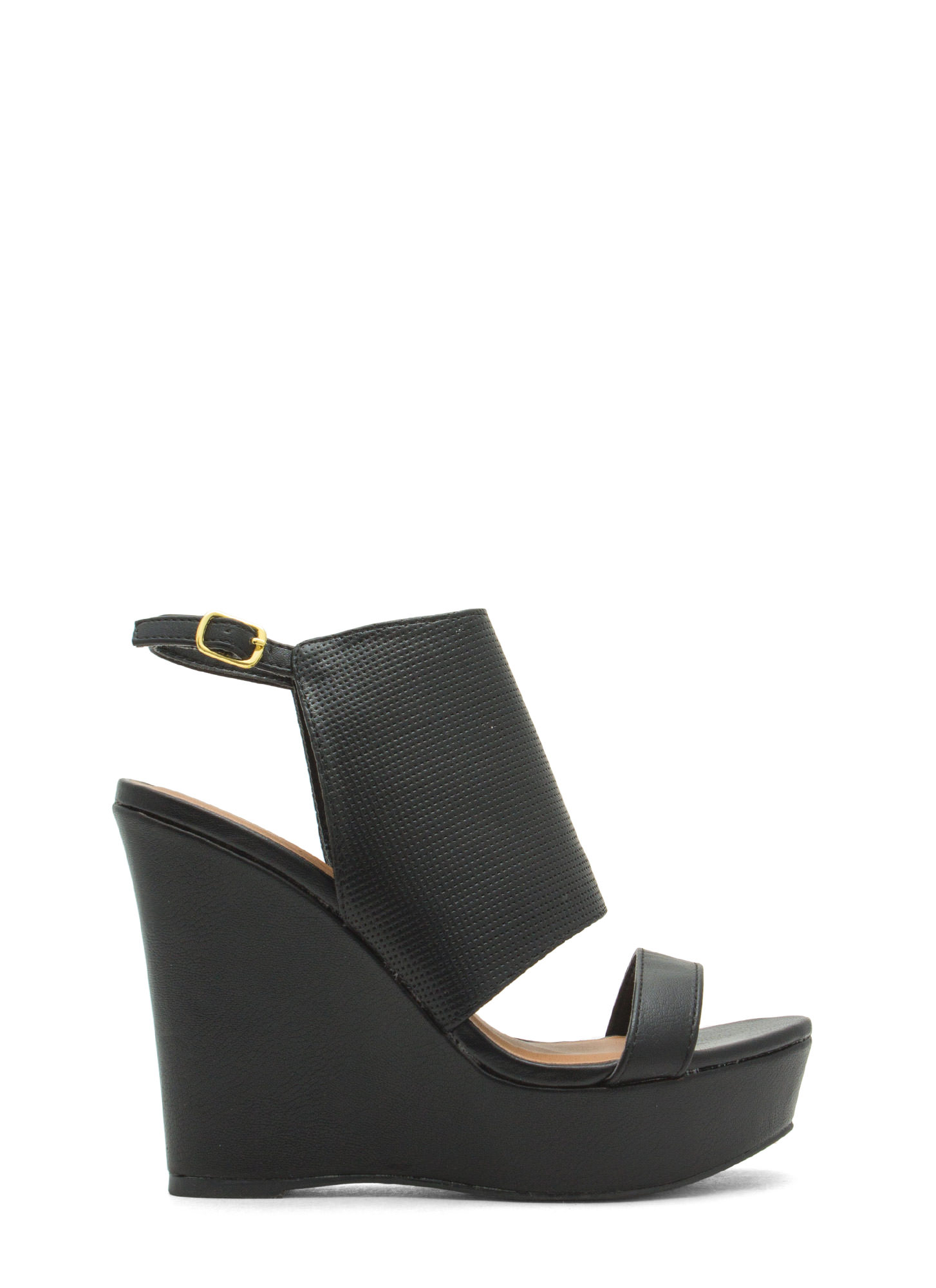 Shield Of Approval Textured Wedges BLACK