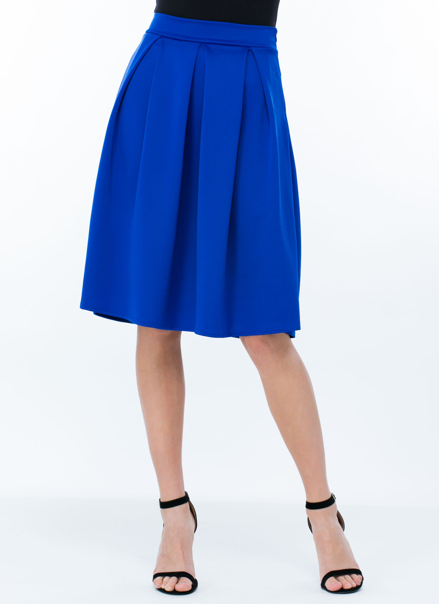 Pleats And Thank You A-Line Skirt ROYAL