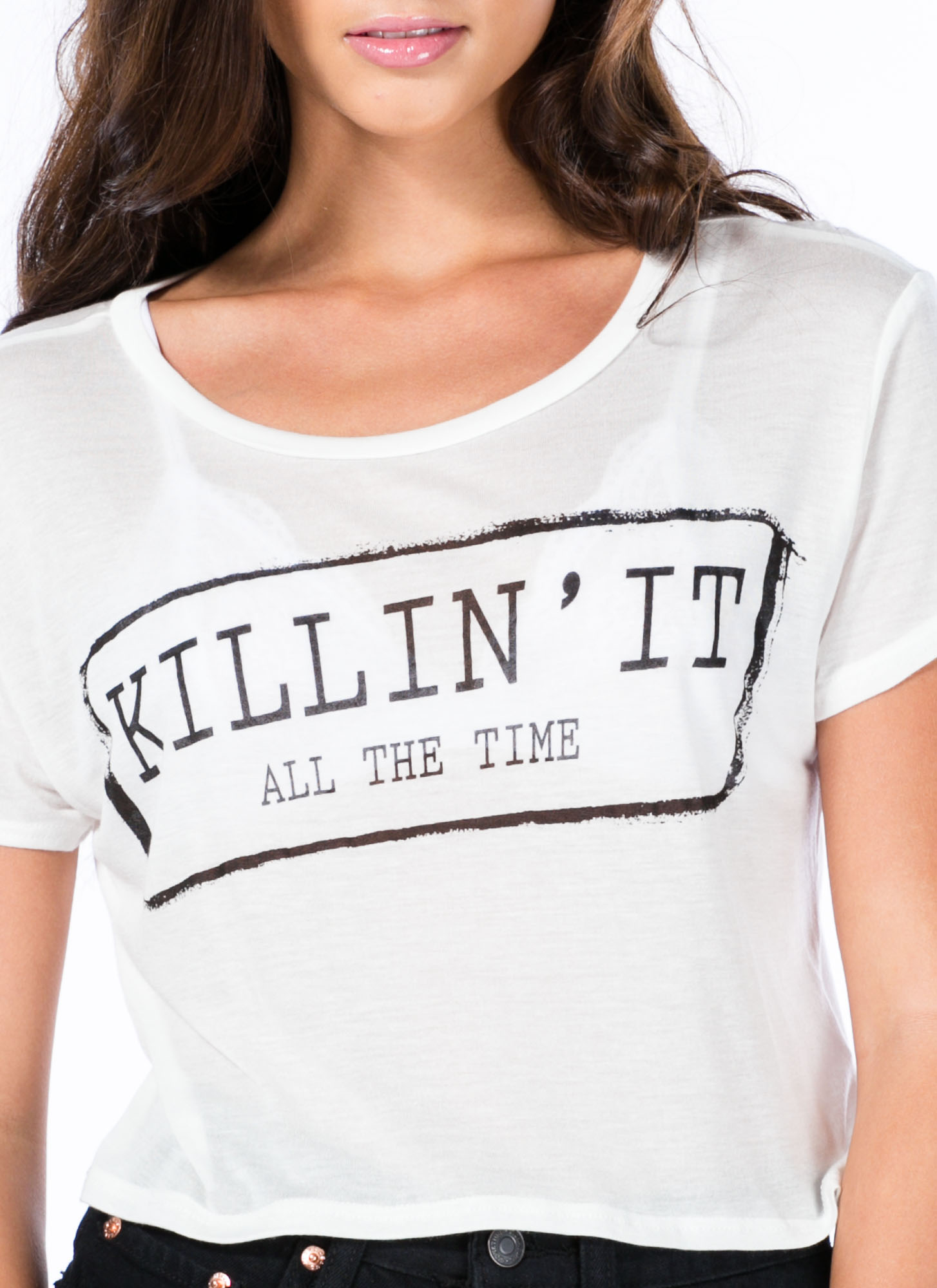 Killin' It All The Time Graphic Tee WHITE