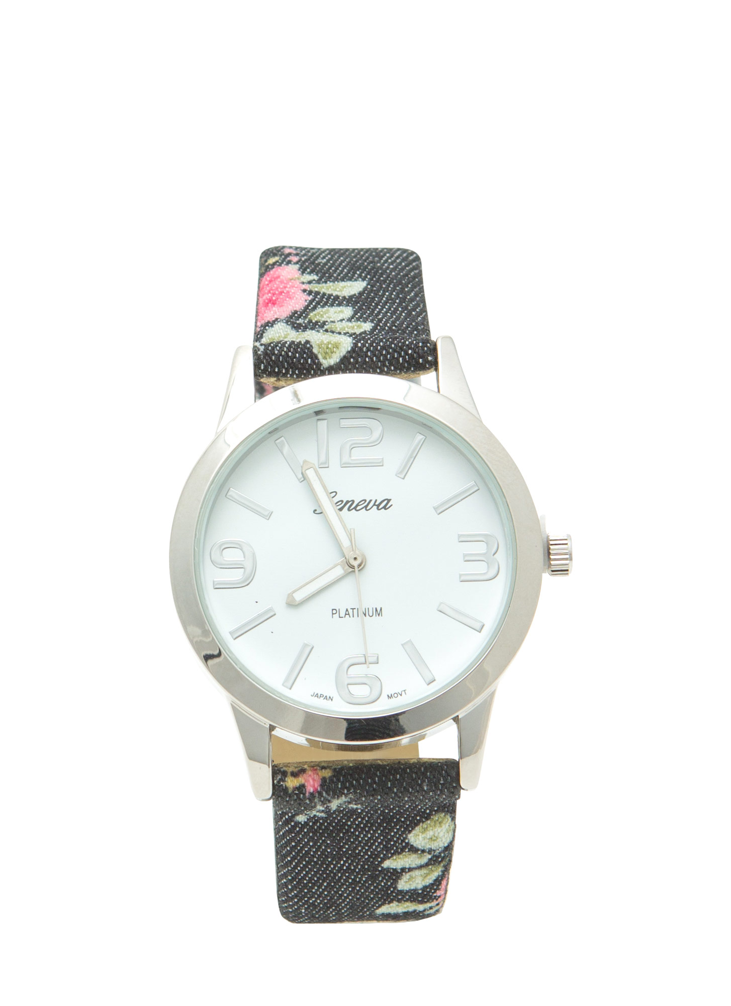Vintage-Inspired Floral Print Watch MULTI