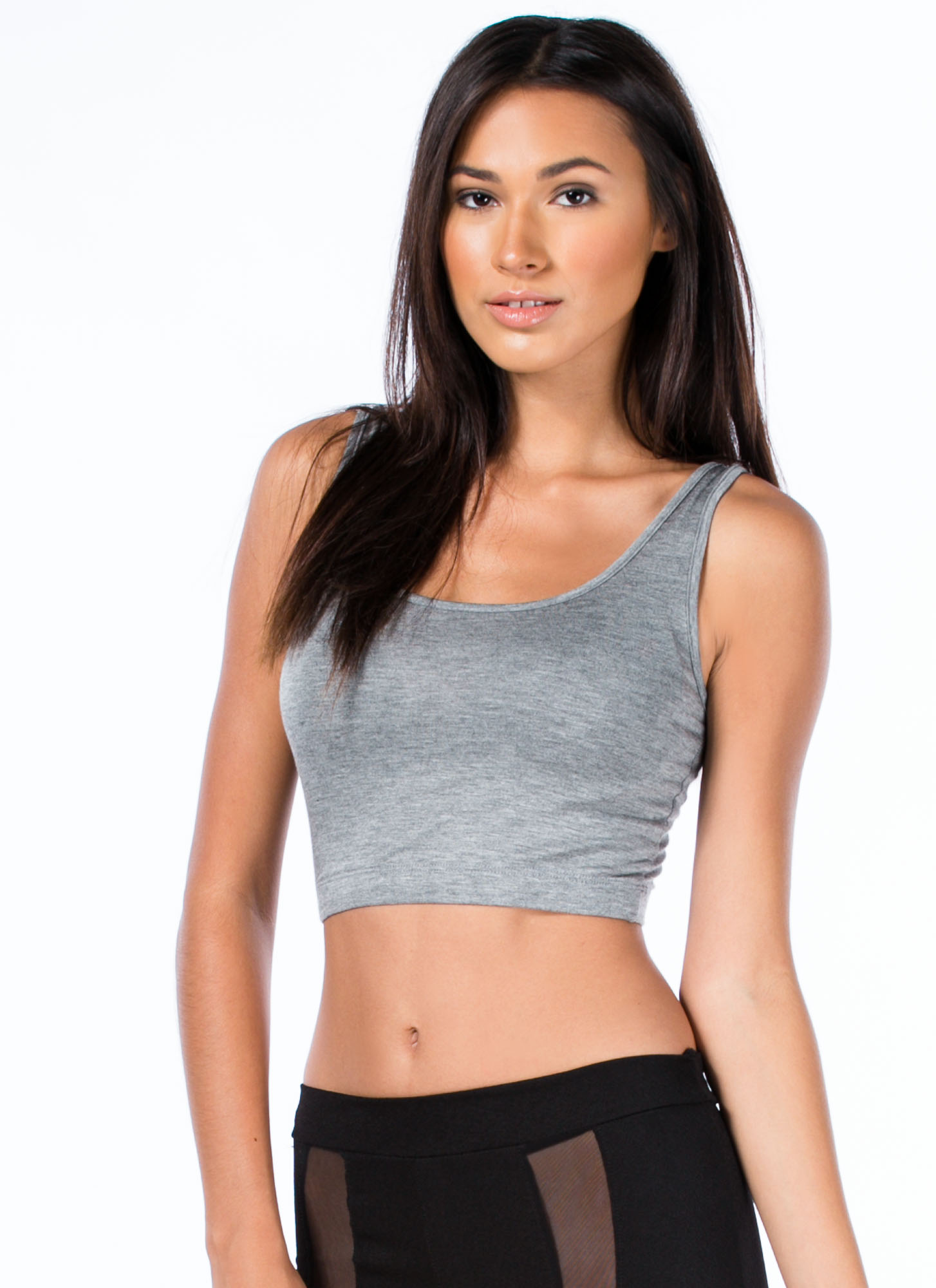 Sports Star Bralette Cropped Top GREY