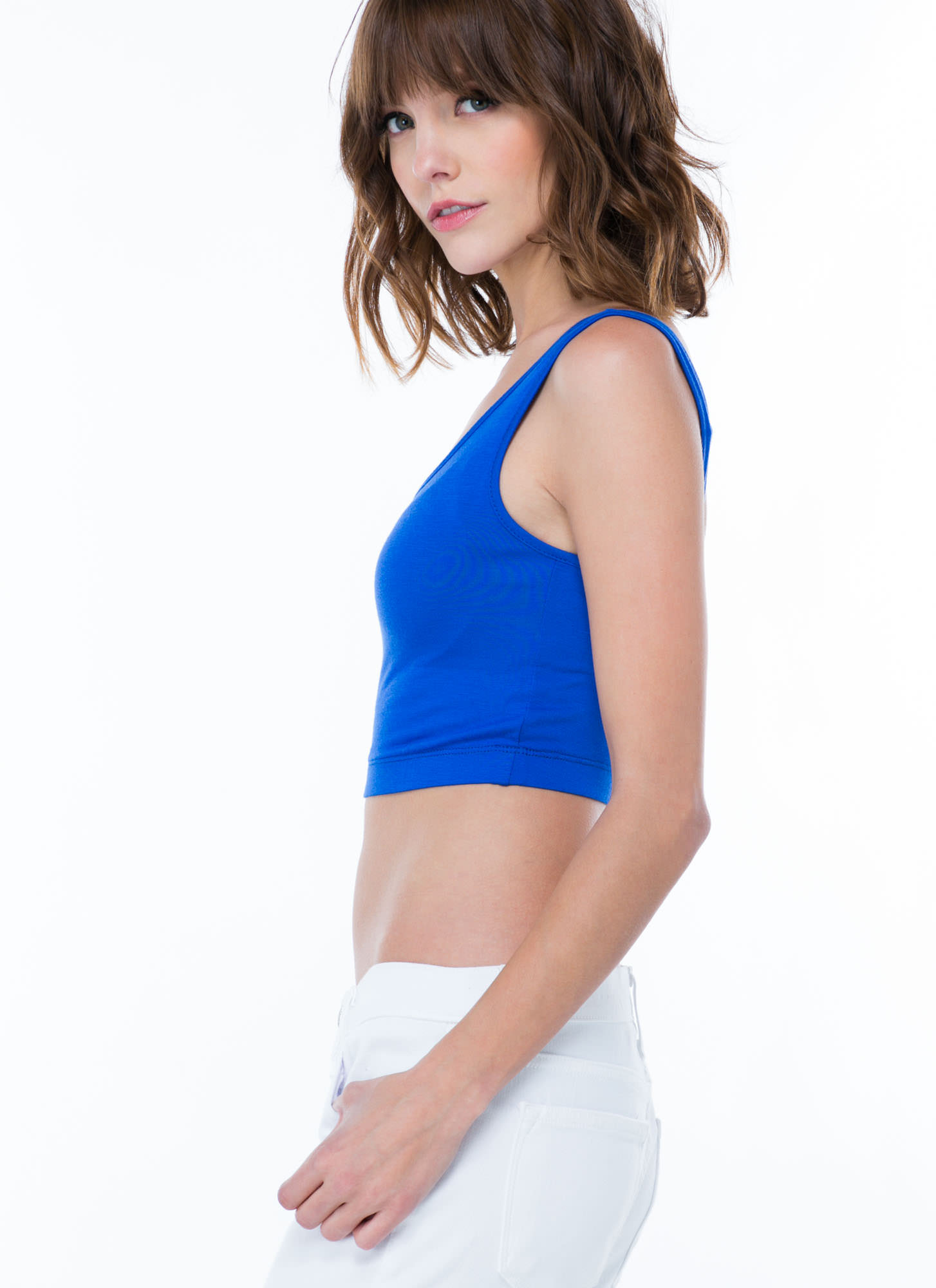 Sports Star Bralette Cropped Top ROYAL