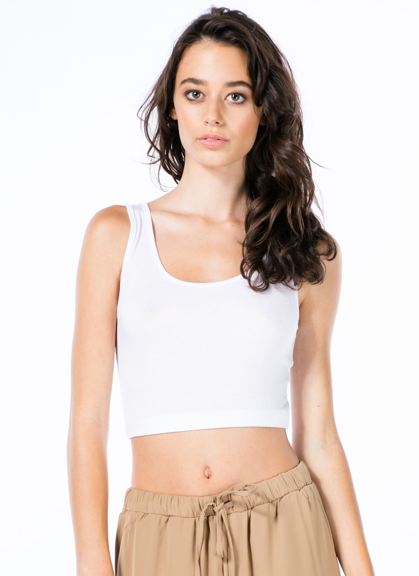 Sports Star Bralette Cropped Top WHITE