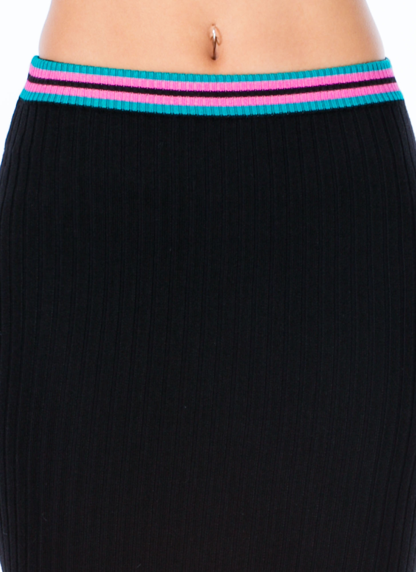 Be An Athlete Midi Skirt BLACK