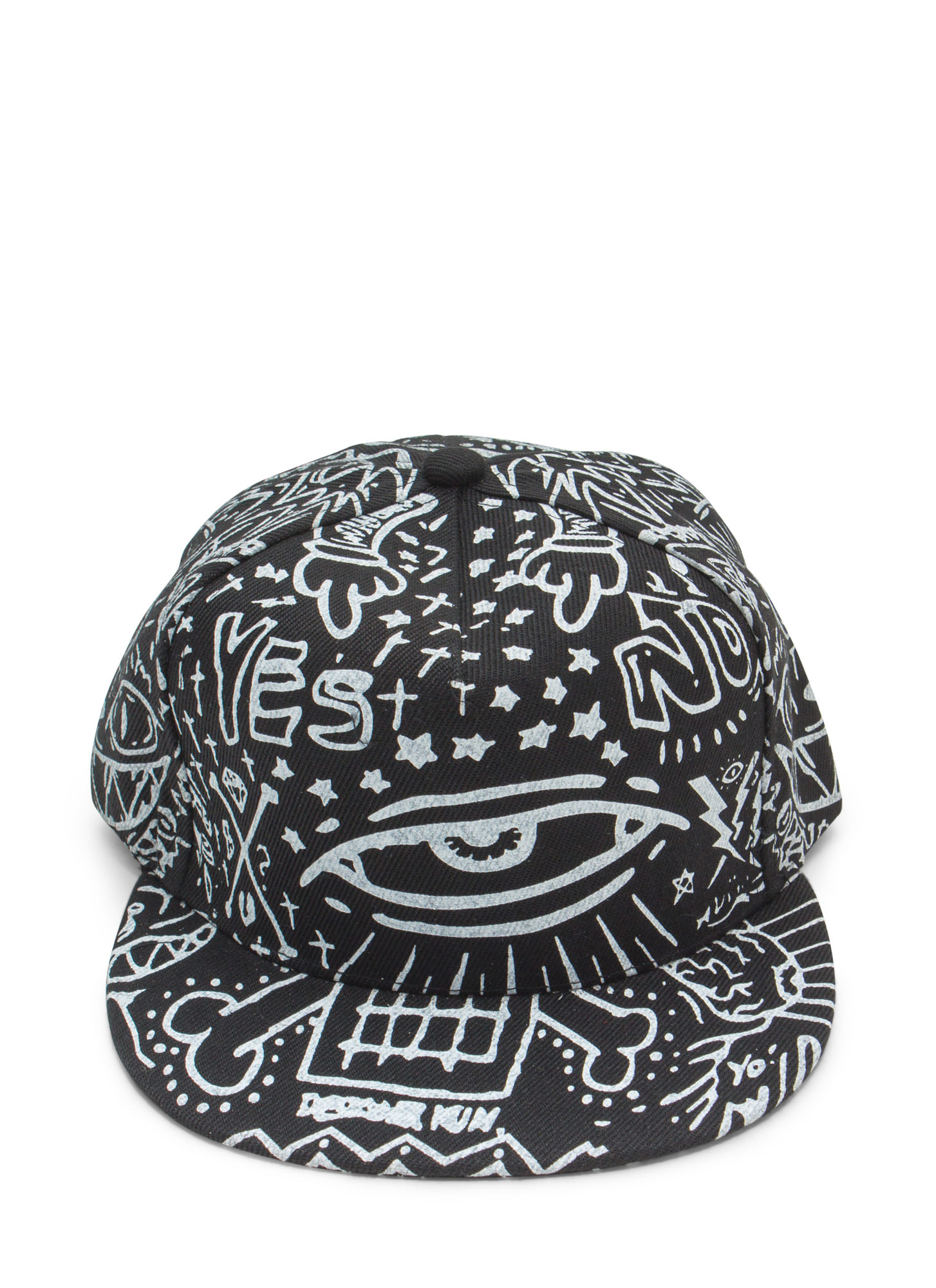 Canvas Graffiti Snapback BLACK