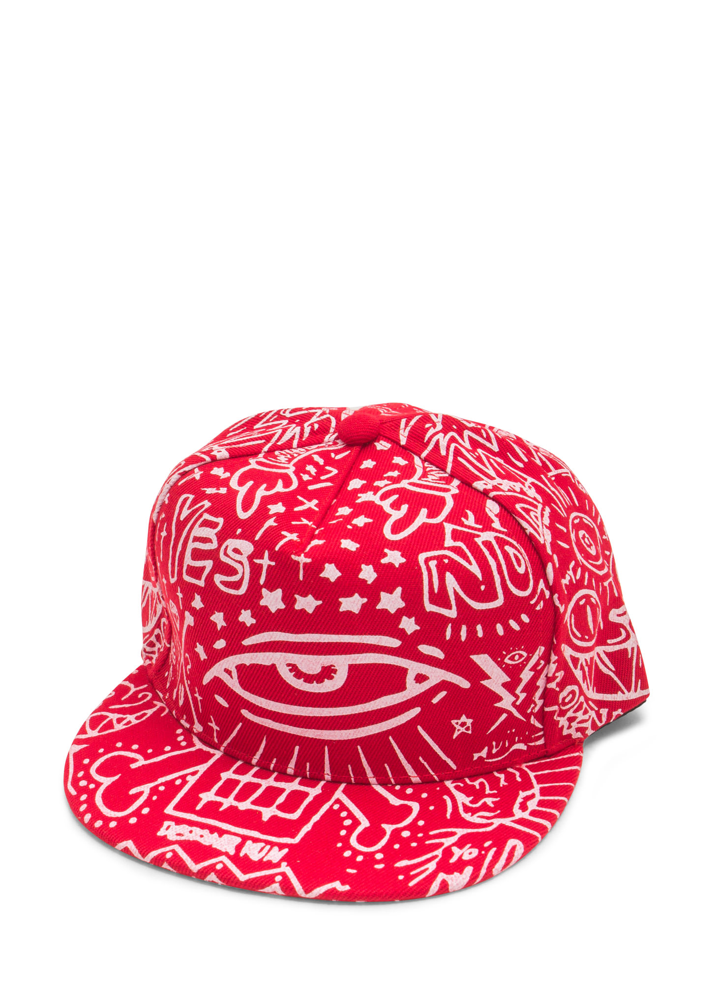 Canvas Graffiti Snapback RED