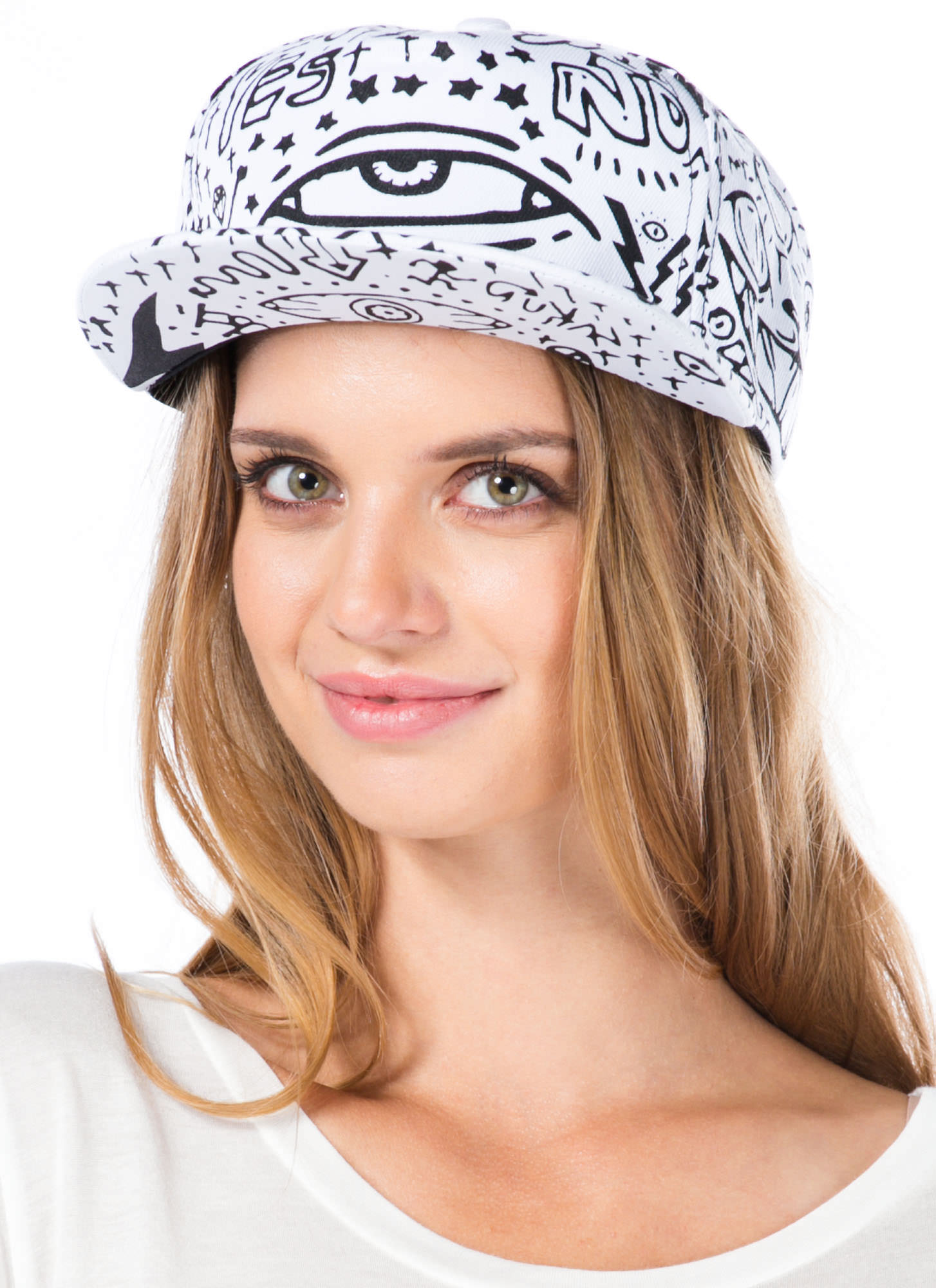 Canvas Graffiti Snapback WHITE