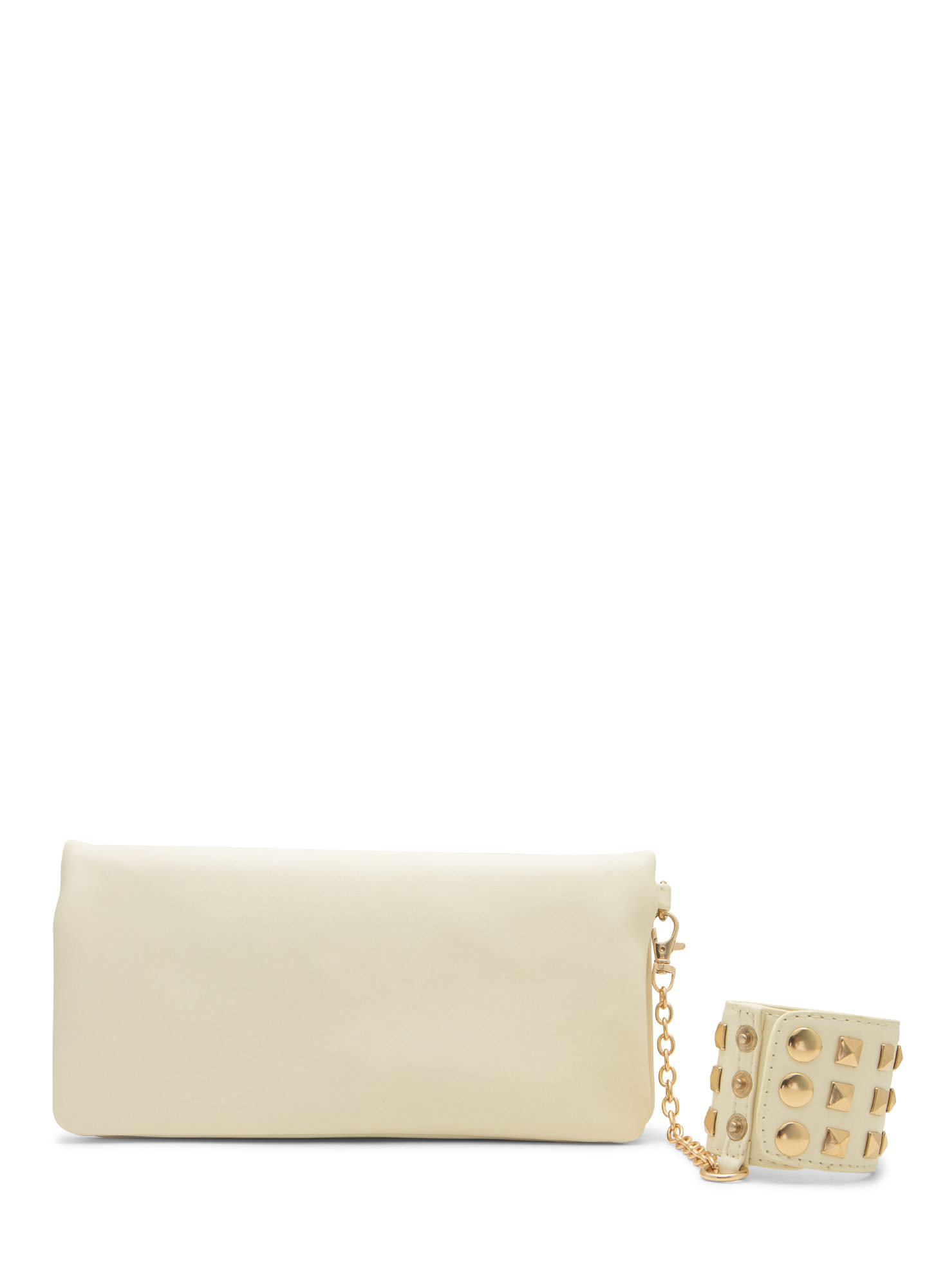Pyramid Stud Cuff And Clutch Set IVORYGOLD