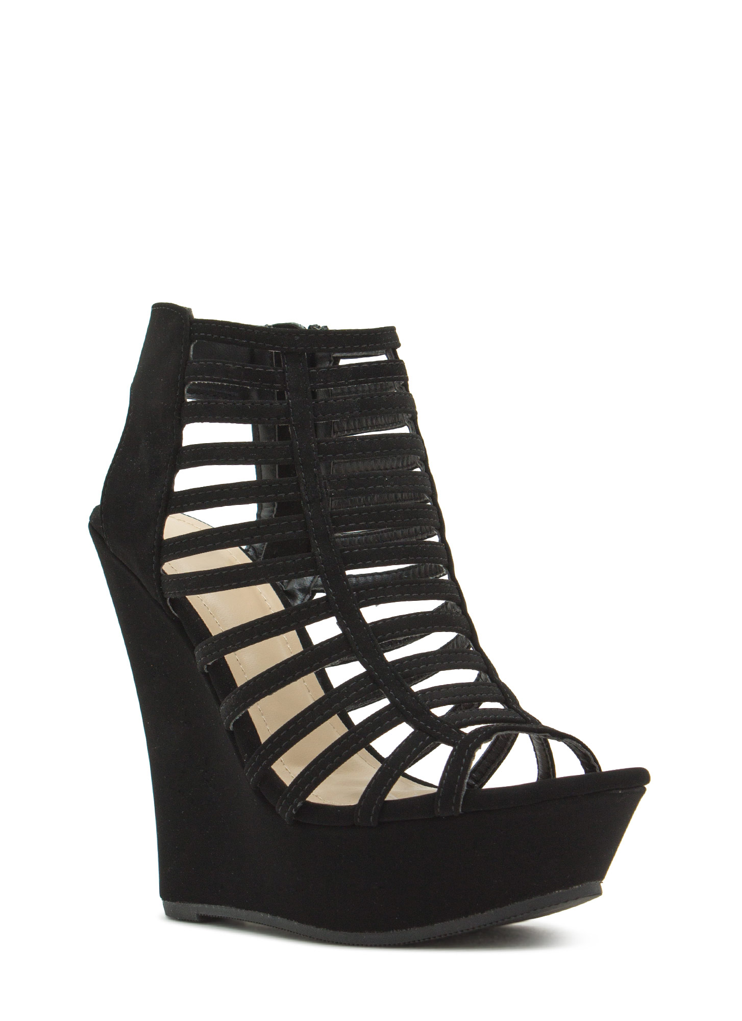 Slit Vision Platform Wedges BLACK