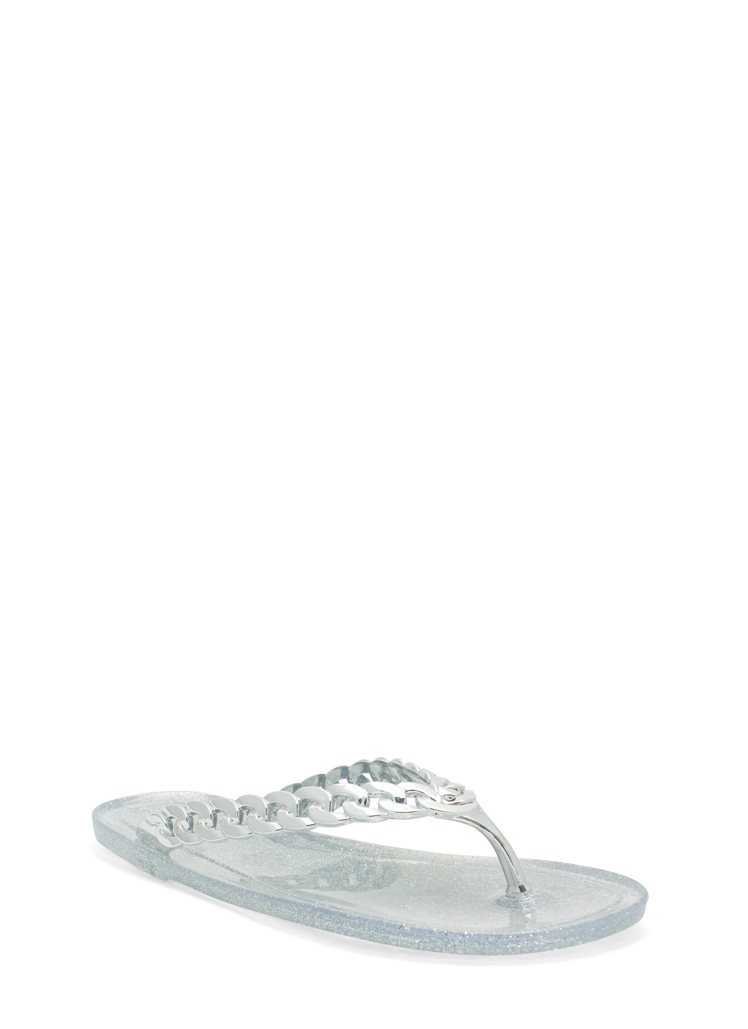Missing Link Jelly Thong Sandals CLEAR