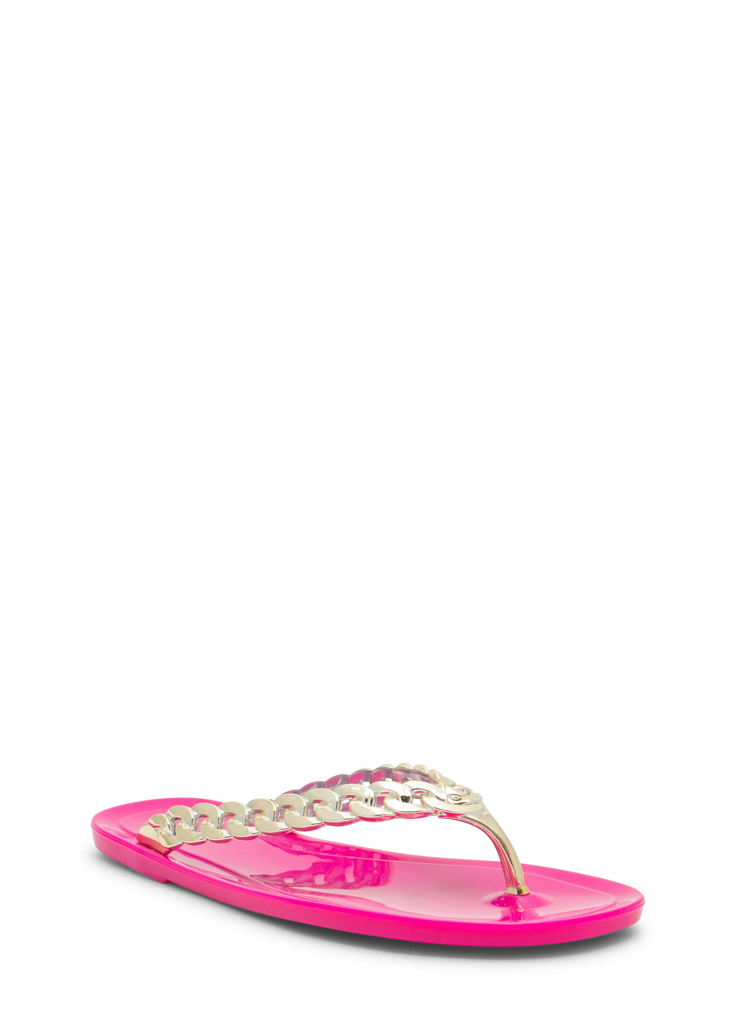 Missing Link Jelly Thong Sandals MAGENTA