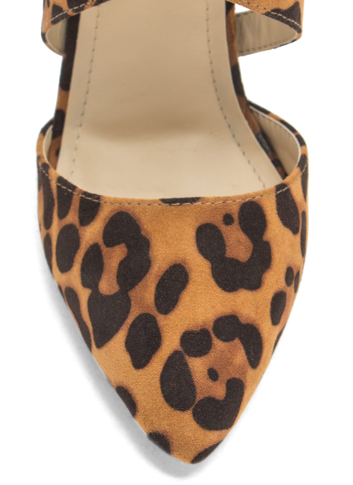 Caged Pointy Toe Heels LEOPARD