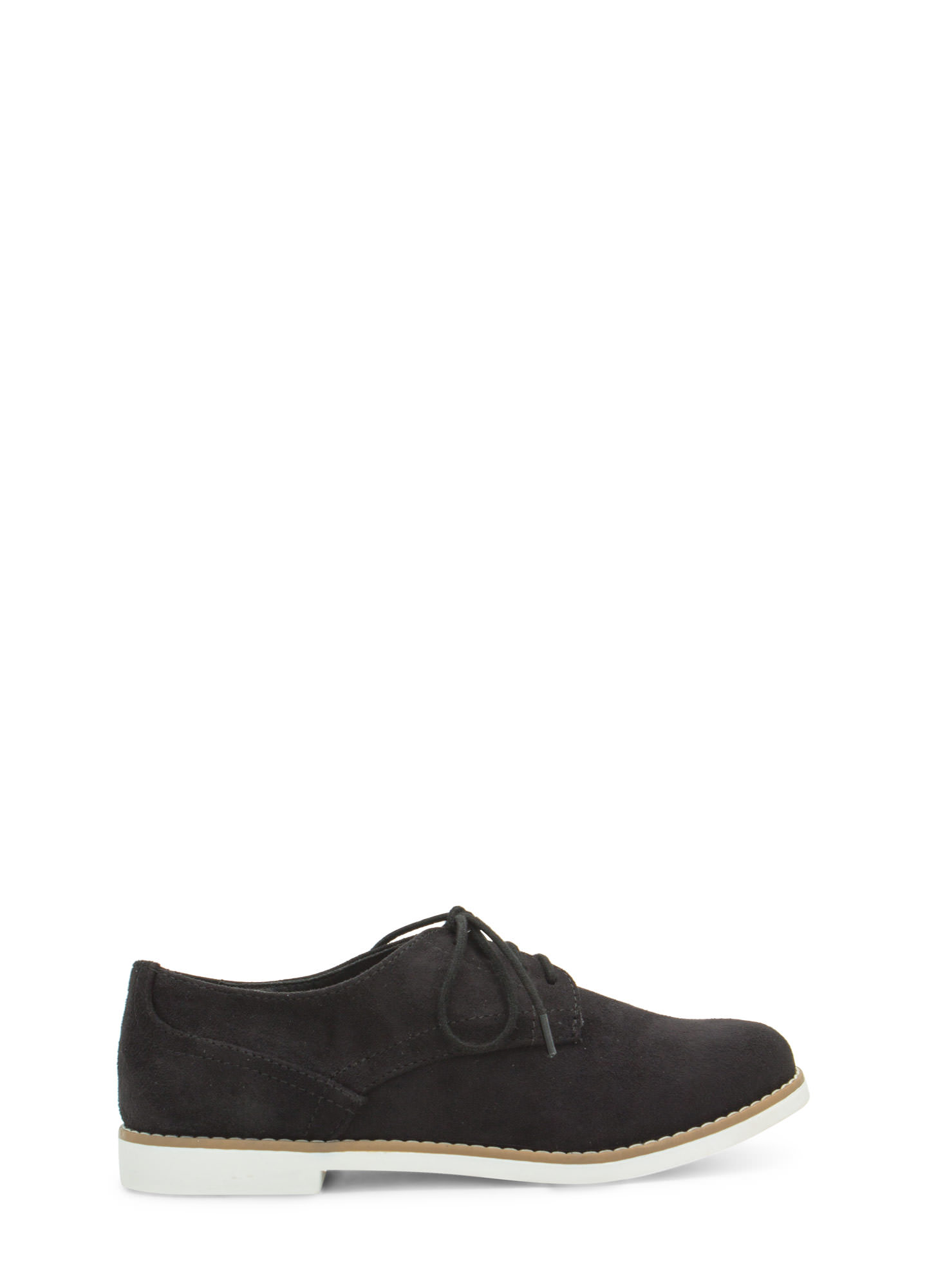 Tomboy Perfection Lace-Up Oxfords BLACKWHITE