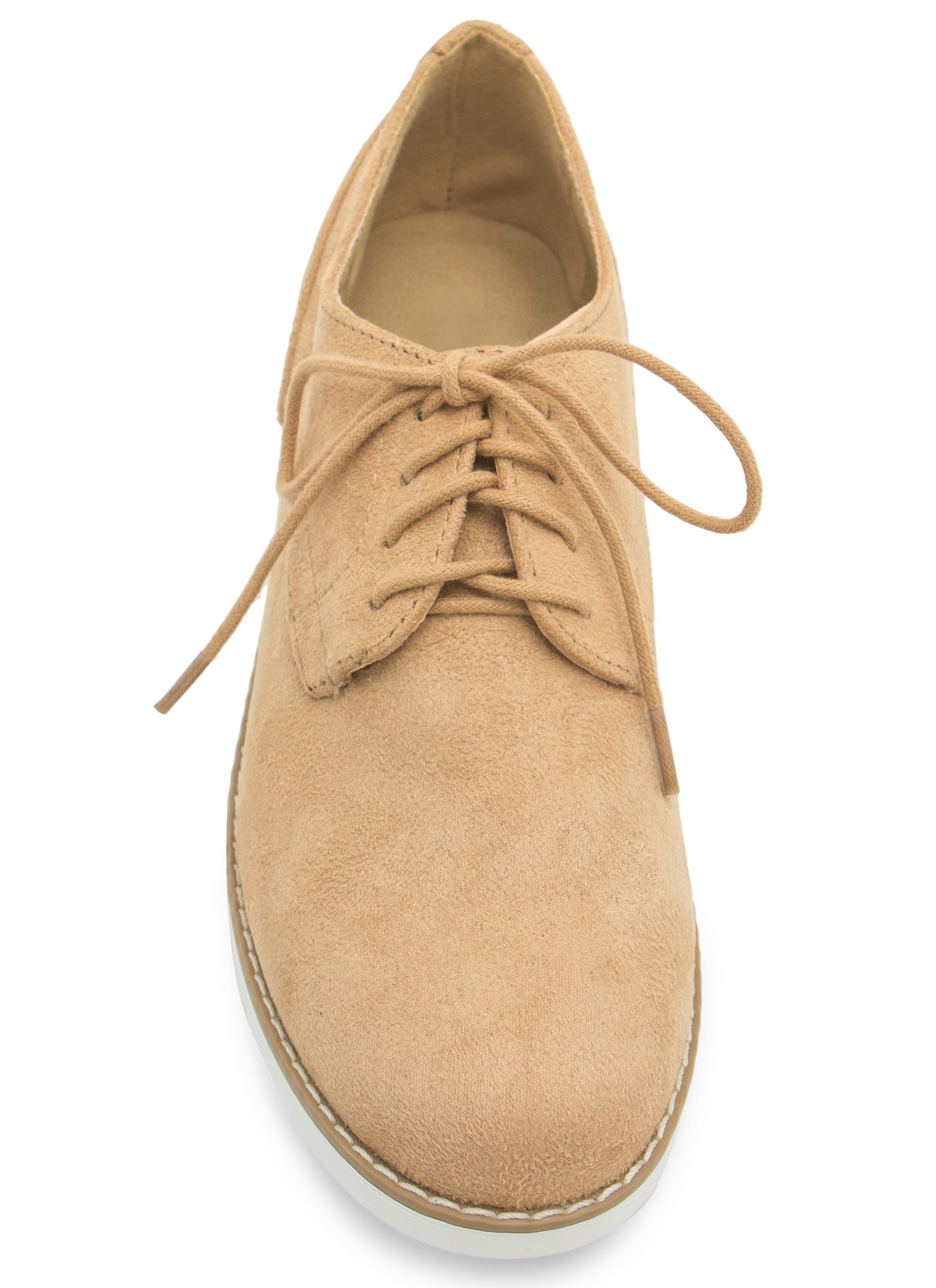 Tomboy Perfection Lace-Up Oxfords CAMEL