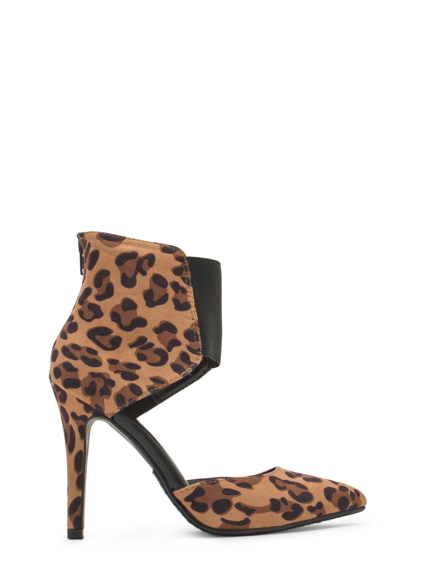 Bootie-licious Pointy Leopard Heels TANLEO